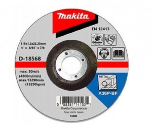 MAKITA TARCZA TNĄCA DO METALU 115X3mm D-18568
