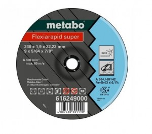 TARCZA METABO FLEXIARAPID 230 X 1,9 X 22,23 INOX