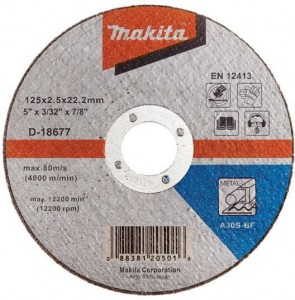 Makita tarcza TNĄCA do METALU 125mm x2,5mm D-18677