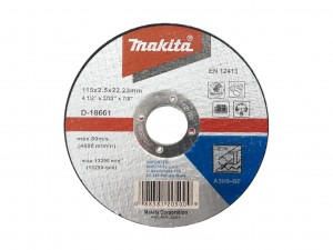 Makita tarcza TNĄCA do METALU 115mm x2,5mm D-18661
